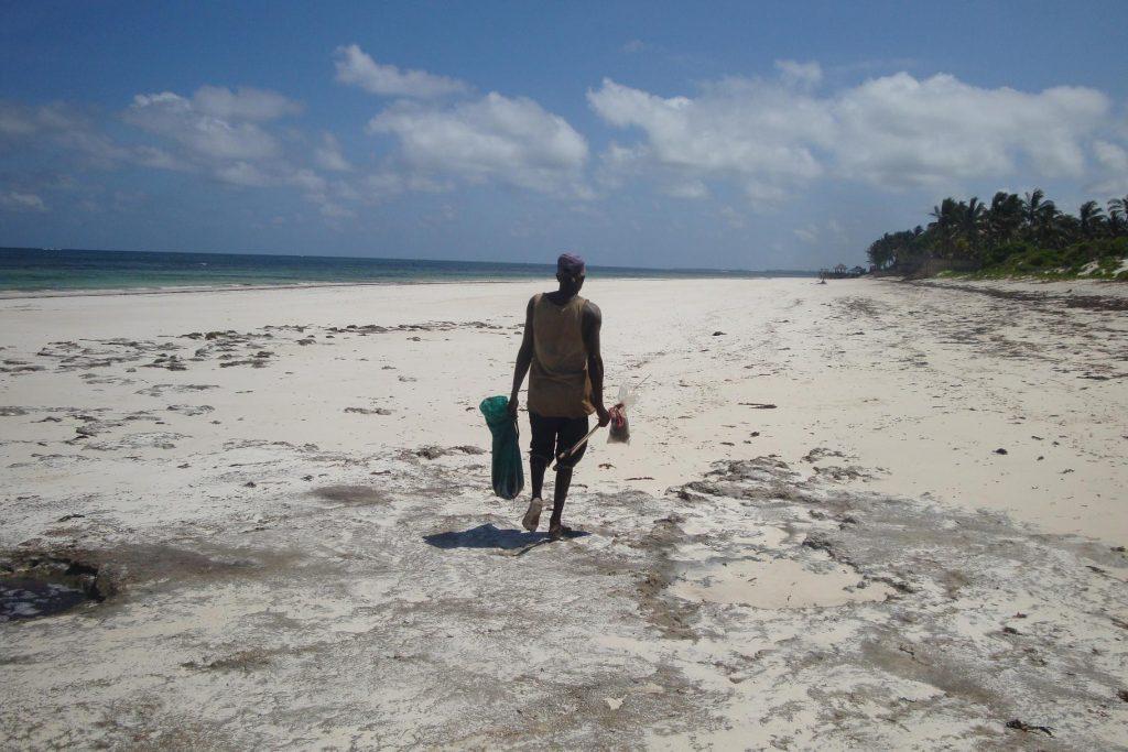 Fishermen at the Kilifi public beach